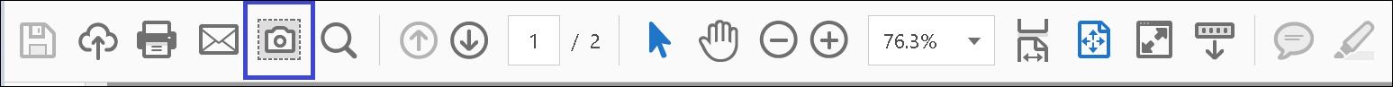 スナップショットアイコンが追加された状態